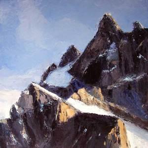 Ascension - Minéral - huile sur toile - 100x100cm - collection particulière