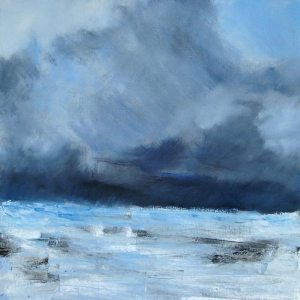 Sommet du Ben Nevis (Écosse) - huile sur toile - 60x60cm (collection particulière)