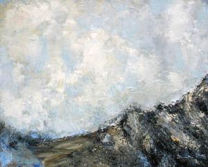 Les crêtes du Pic du Pin (Belledonne - Isère) - 81x65cm