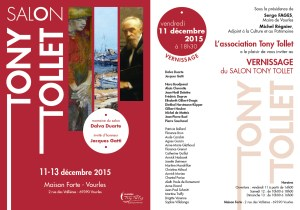Invitation vernissage Salon Tony Tollet 2015