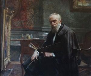 Autoportrait - huile sur panneau - 111x135cm, fut présenté à l