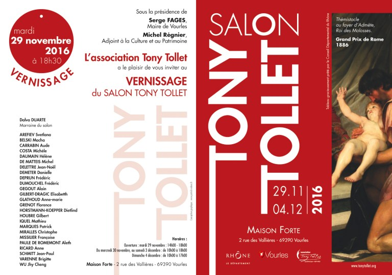 Invitation vernissage Salon Tony Tollet 2016