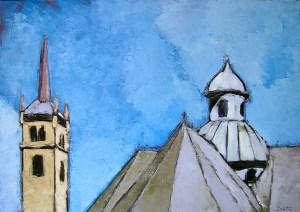 Notre-Dame-de-la-vie (Saint-Martin-de-Belleville) - oil on canvas - 92x65cm - collection particulière