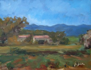 Une ferme en Ardèche - oil on canvas - 35x27cm