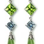Aquamarine & Peridot Earrings