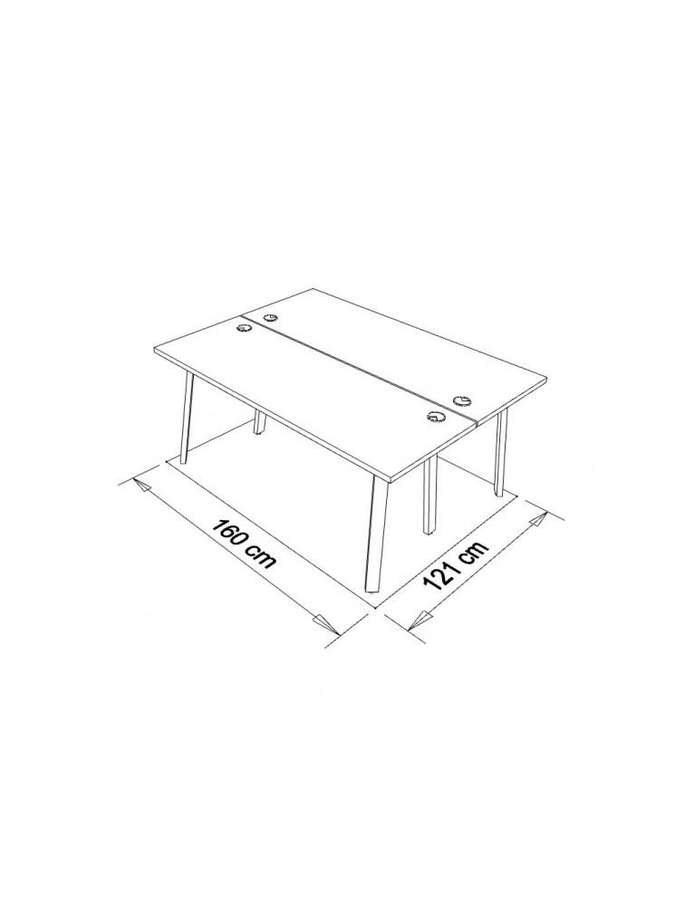 bureau bench open space 2 personnes