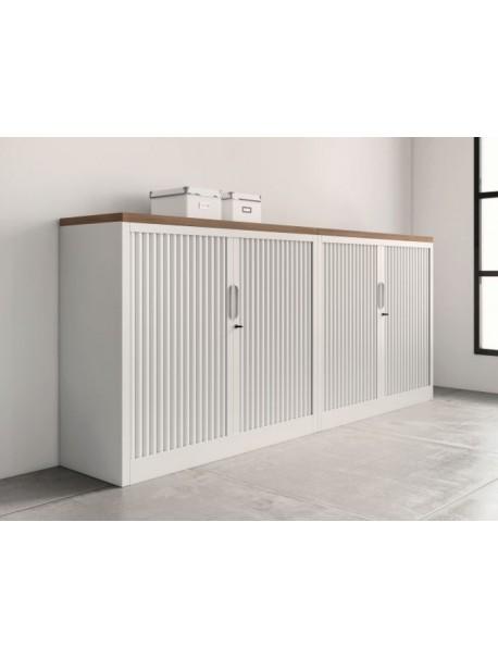 armoire basse a rideaux classif unie h 102 cm