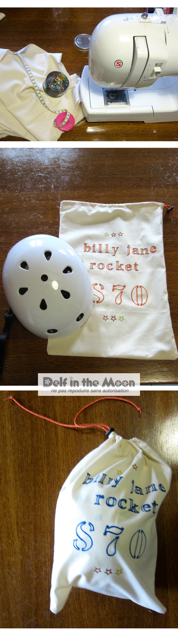Helmett bag :  Billy Jane Rocket #S70