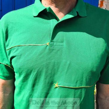 Polo vert customisé