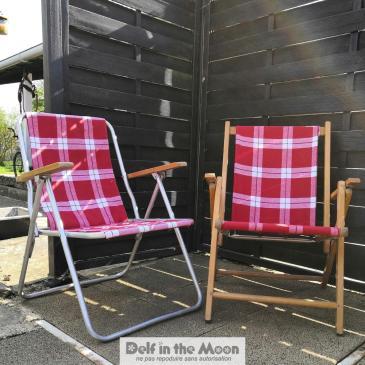 Réfection de deux fauteuils de jardin