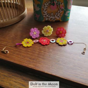 Bernadette : parure pin's et bracelet