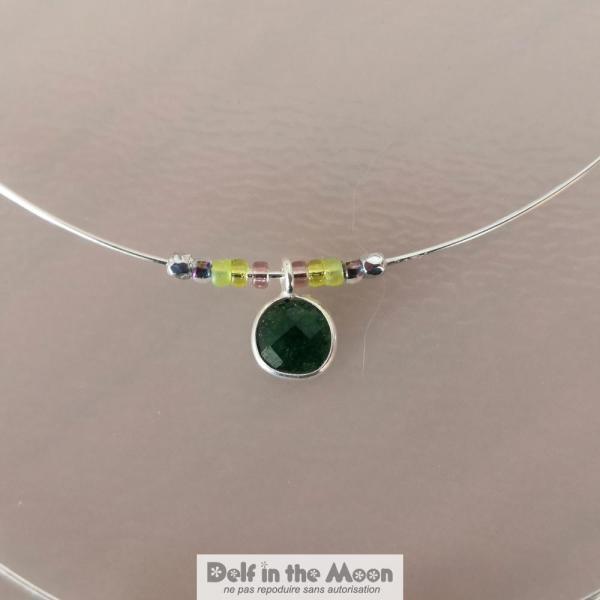 breloque argent et jade