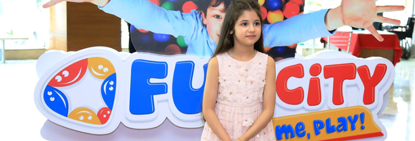 Harshaali Malhotra inaugurates Fun City, Ambience Mall Gurgaon