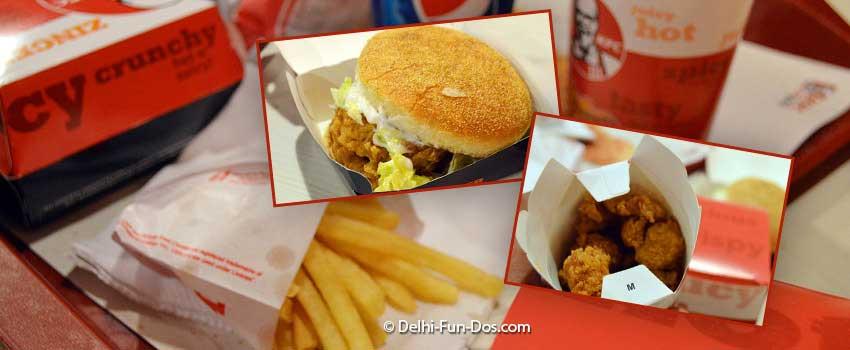 KFC – Lajpat Nagar – food for comfort