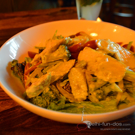 We had a Malaysian Chicken Curry Salad along with our drinks. The salad was fresh and the serving was substantial. This could be a stand alone dish with a glass of beer.