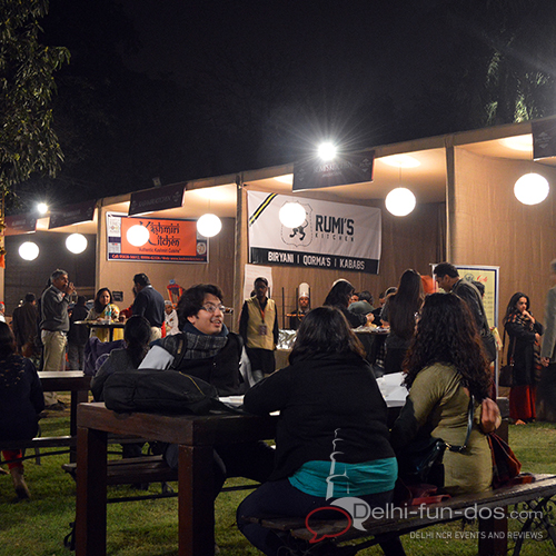 In fact, food was also a major attraction of the festival. They had an open air food court where many of the famous eateries of Delhi had put up their stalls.