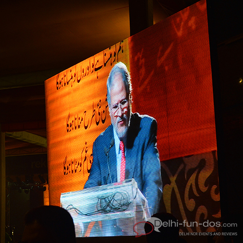 The festival was inaugurated by Lt. Governer Mr. Najeeb Jung and he also recited Ghalib at the festival