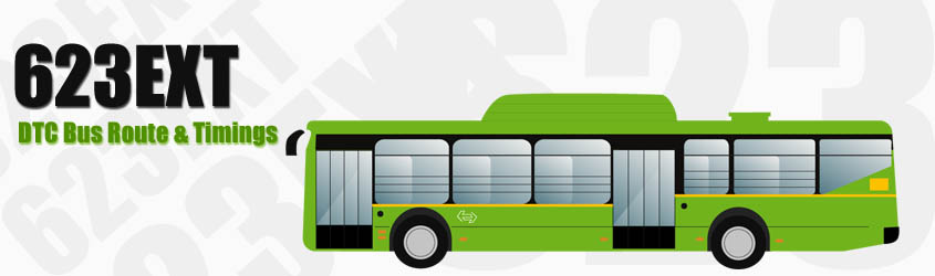 623EXT Delhi DTC City Bus Route and DTC Bus Route 623EXT Timings with Bus Stops