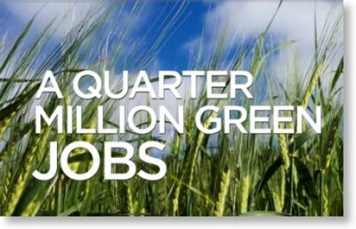 Quarter Million Green Jobs