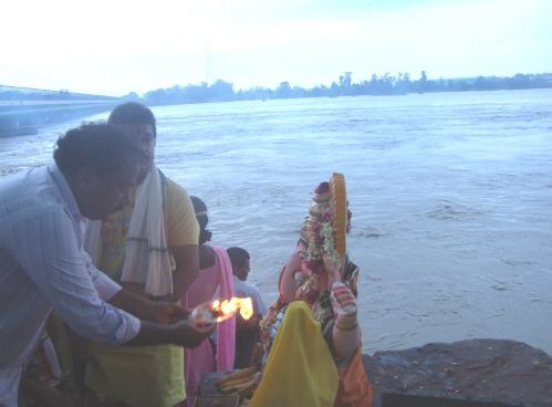 Ganpati and the Yamuna river