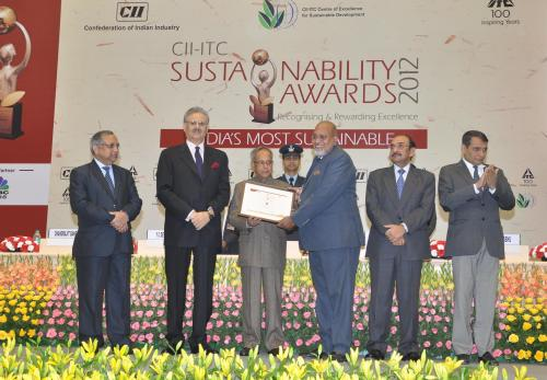 President of India Confers CII-ITC Corporate Sustainability Awards 2012