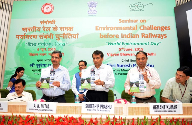 The Chairman, Railway Board, Shri A.K. Mital and other dignitaries are also seen.
