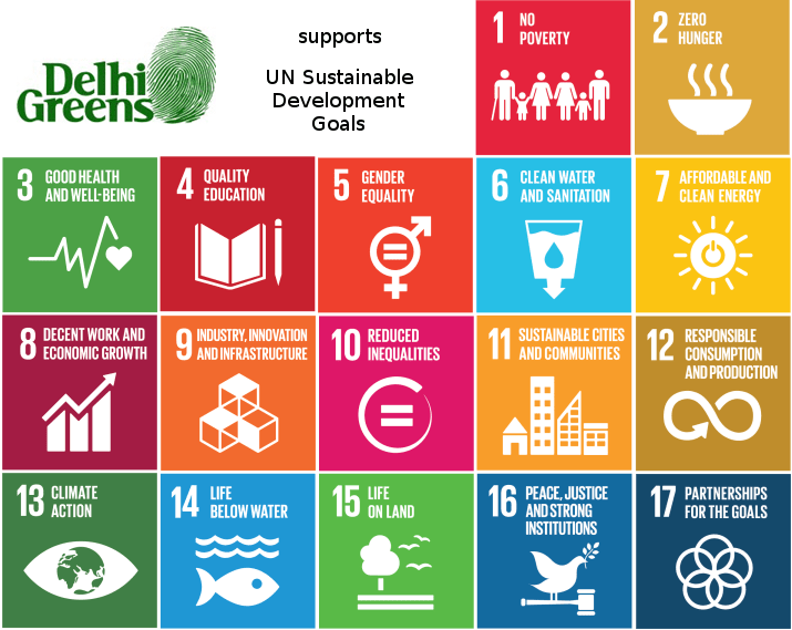 Sustainable Development Goals supported by Delhi Greens