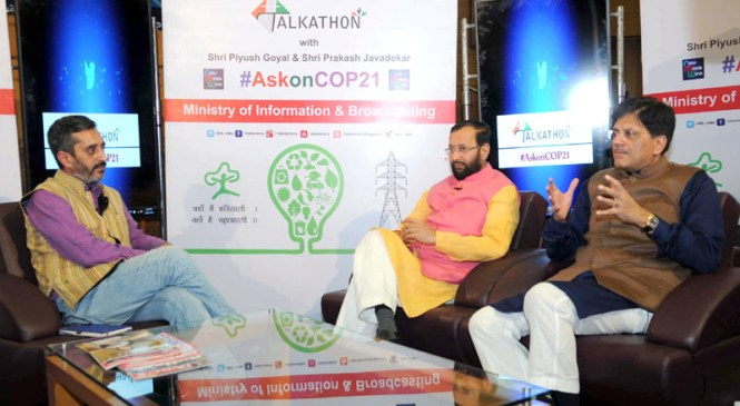 Environment and Power Ministers at Talkathon on COP21