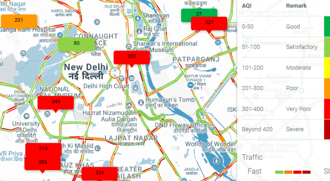 Six Websites to Find Out Real Time Air Quality Index Around You in Delhi