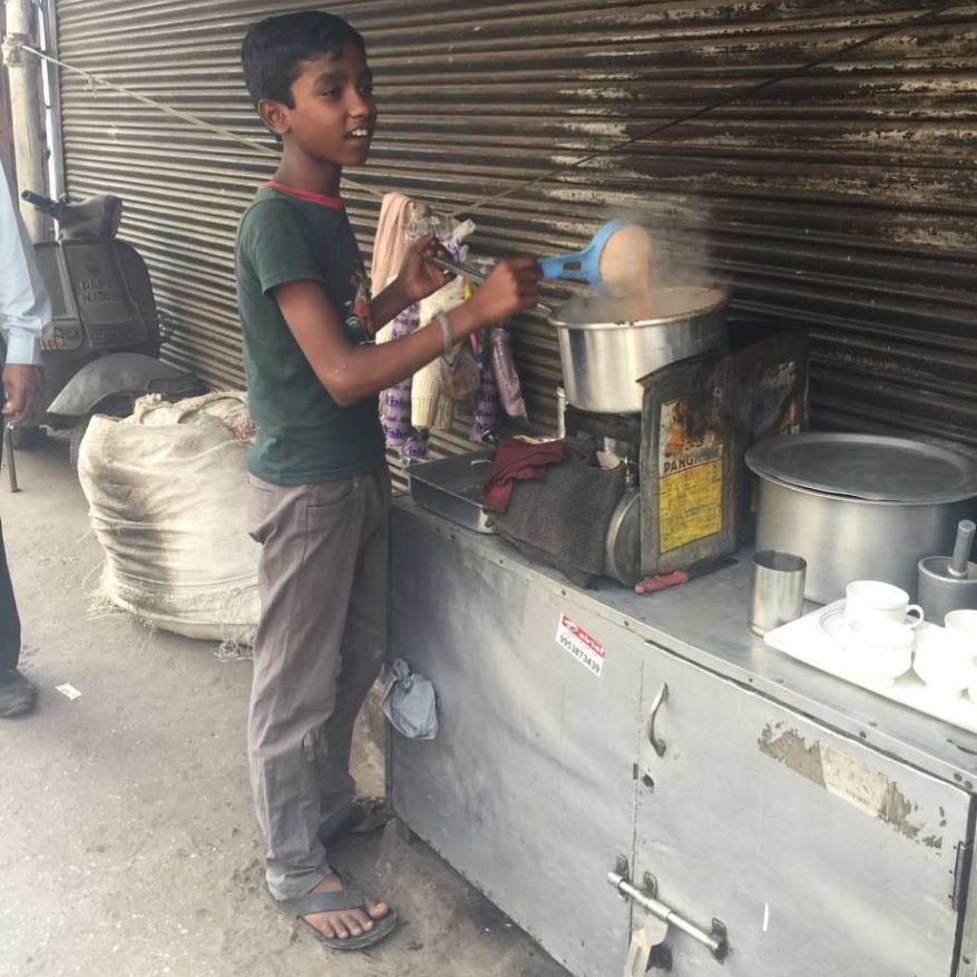 A chai seller on the street