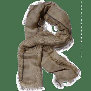 Scarf-linen-net-beige and black-drape-600px