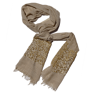 Woollen Shawl with Sequins