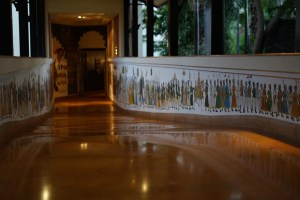 Gorgeously painted and clean walkways at leela palace