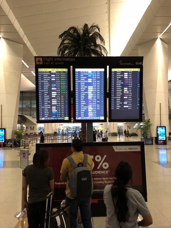 Delhi Airport check-in counter check