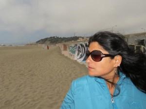 Ketaki at Ocean beach