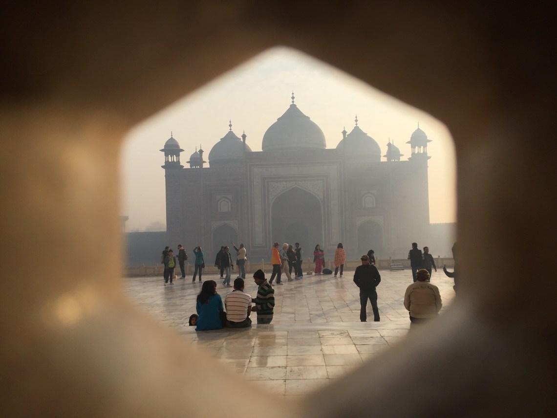 Mihman Khana from inside the taj