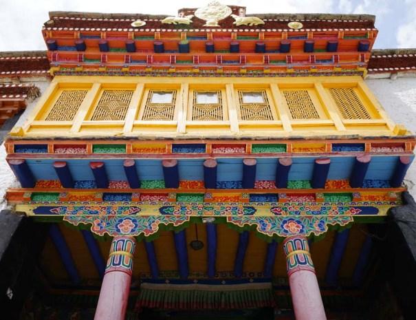 Ornately painted monastery