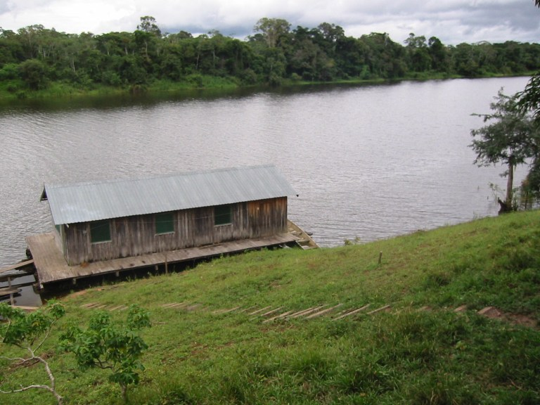 Our hut in the amazon