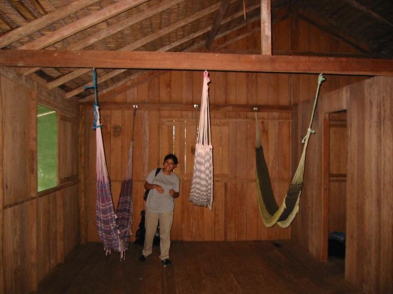 Sleeping in hammocks