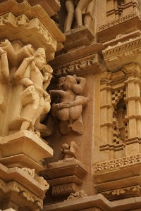 Khajuraho couple sculpture
