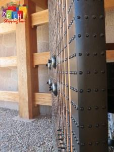 Kanazawa castle wood and iron door