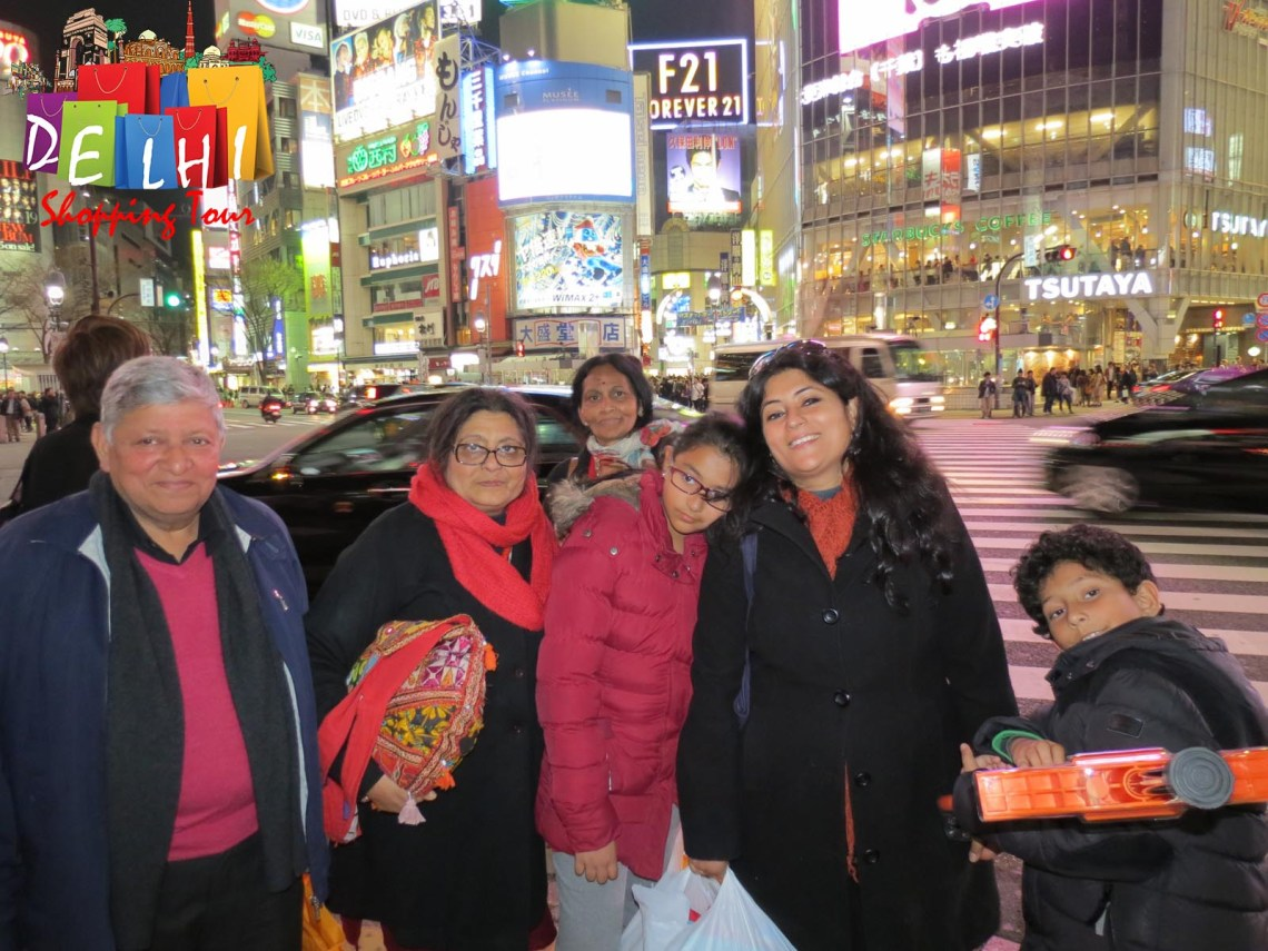 Shibuya with family