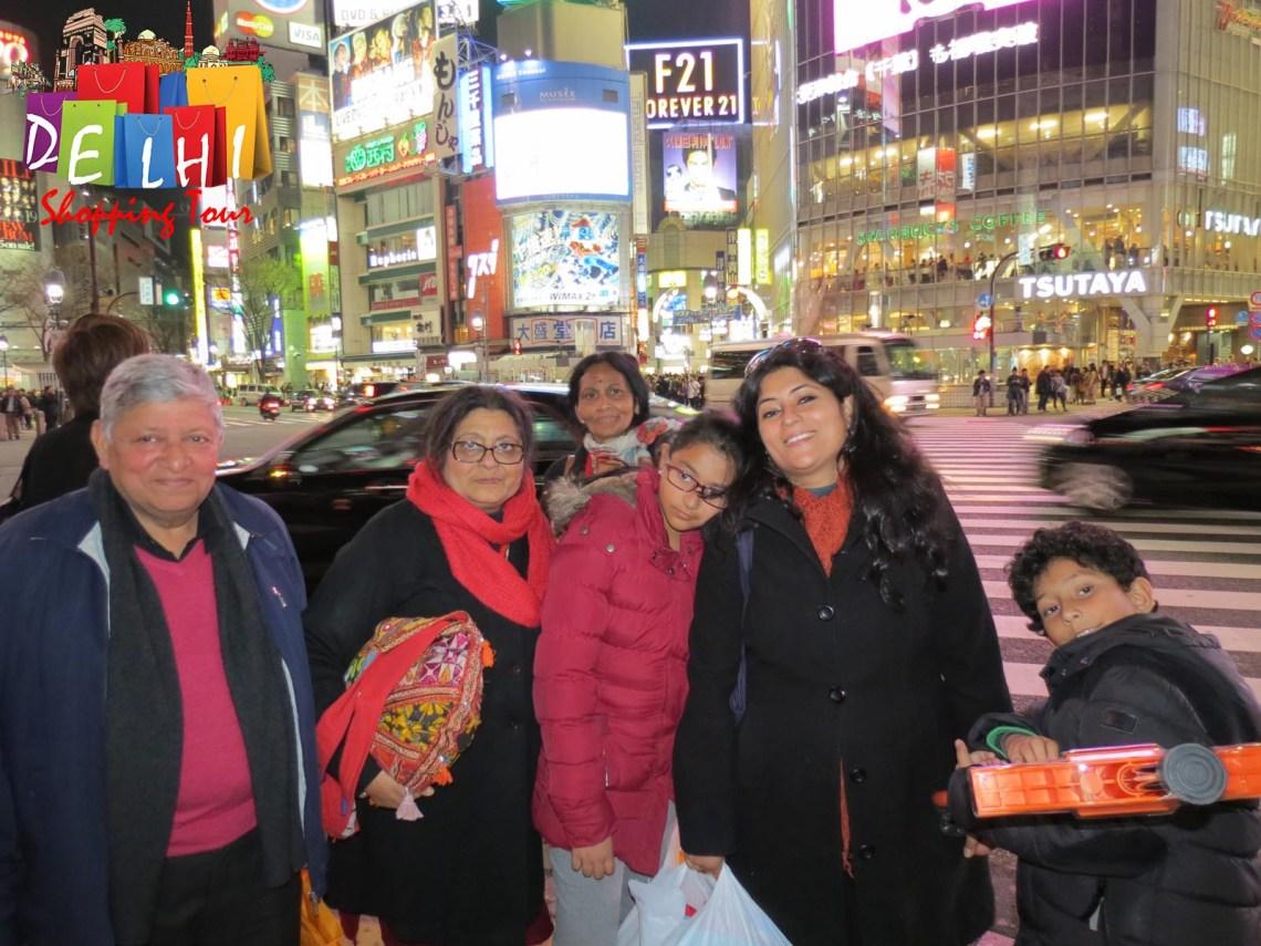 Shibuya with family