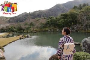 Tenryu-ji Garden with Japanese Lady