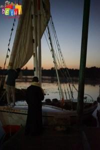 Boat anchored in Luxor