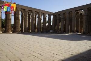 Luxor temple pillars