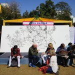 Painting by Abhishek SIngh at JLF