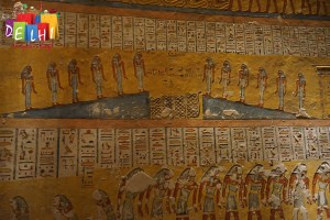 Preserved hieroglyphics at the tomb
