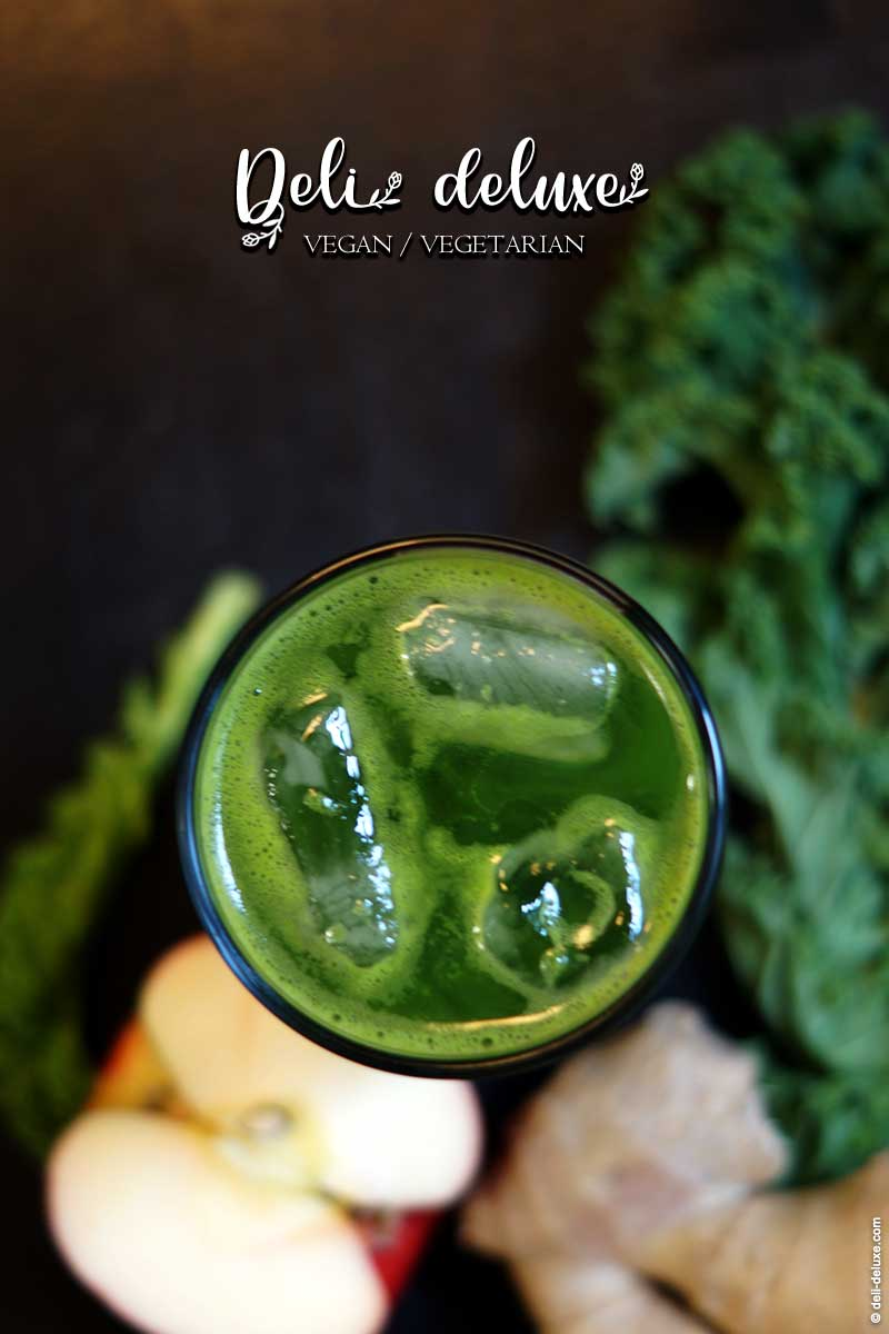 Grünkohl-Ingwer Limonade mit Apfel 🥕🥕
