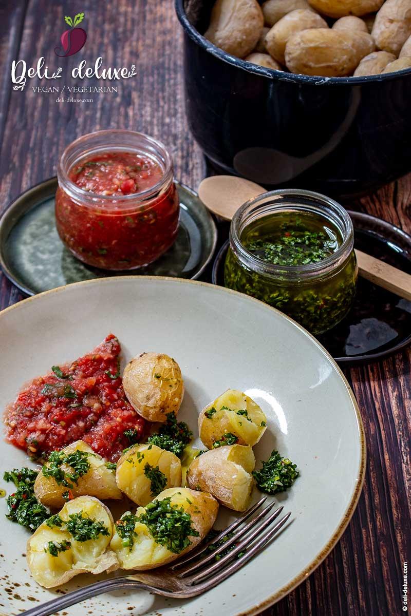 Kanarische Kartoffeln mit Salsa und Chimichurri 🥕🥕